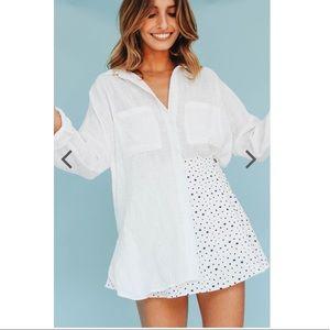 Verge Girl stars mini skirt